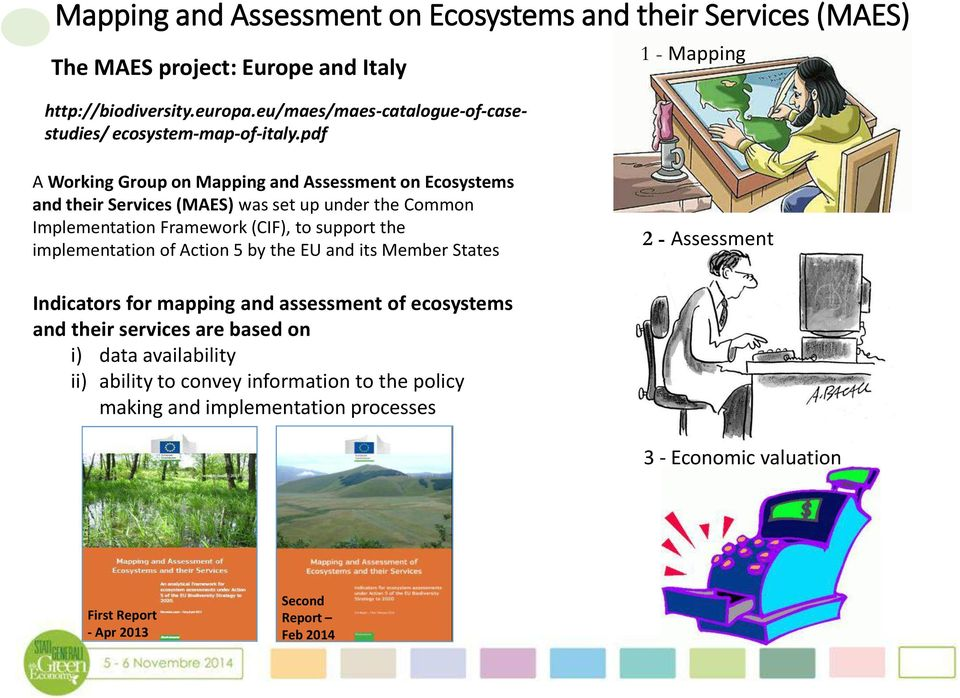 pdf 1 - Mapping A Working Group on Mapping and Assessment on Ecosystems and their Services (MAES) was set up under the Common Implementation Framework (CIF), to support the