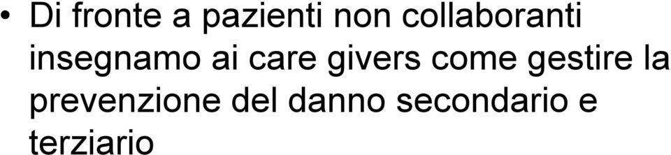 givers come gestire la