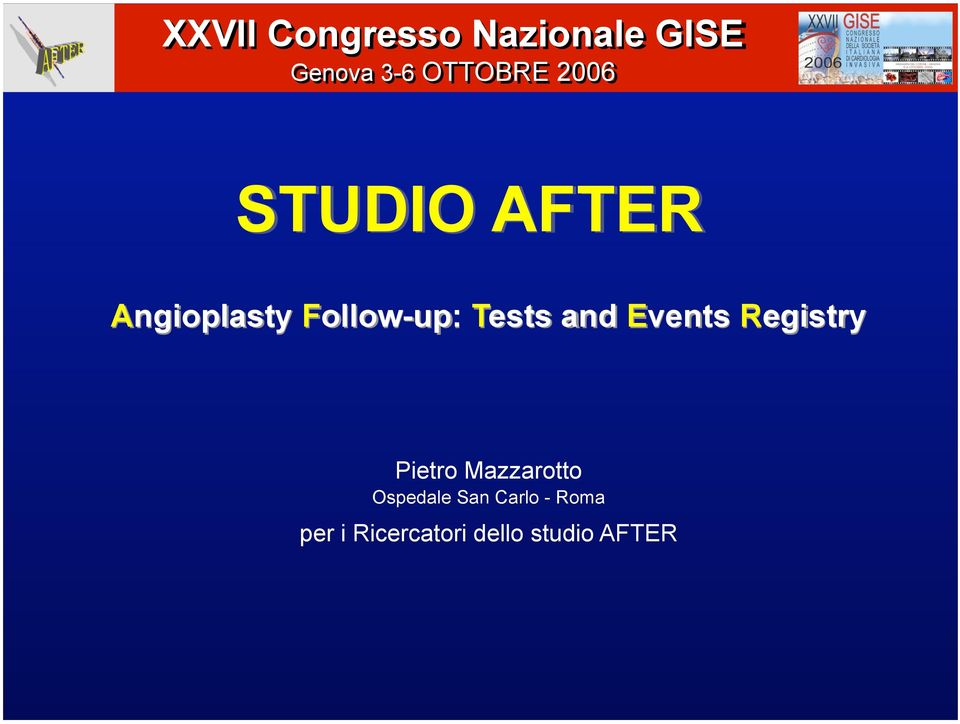 and Events Registry Pietro Mazzarotto Ospedale