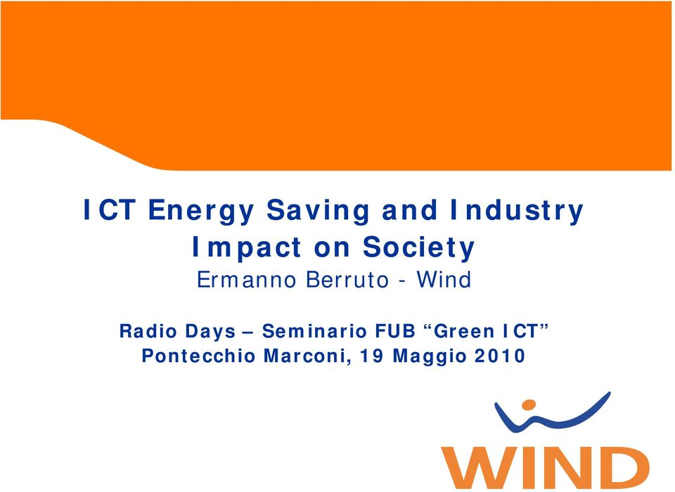 Wind Radio Days Seminario FUB Green