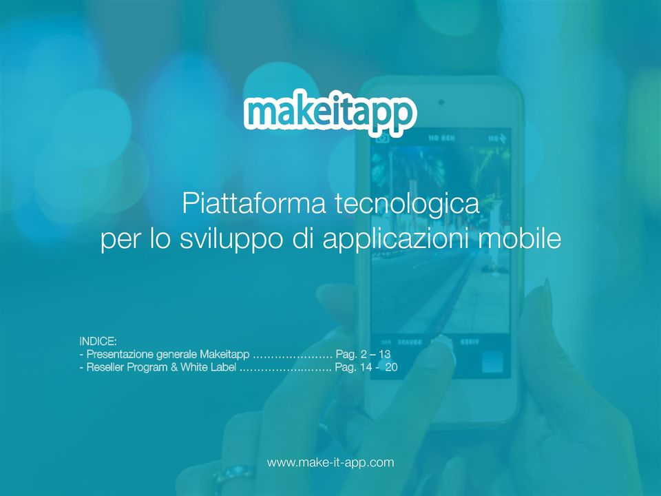 generale Makeitapp. Pag.