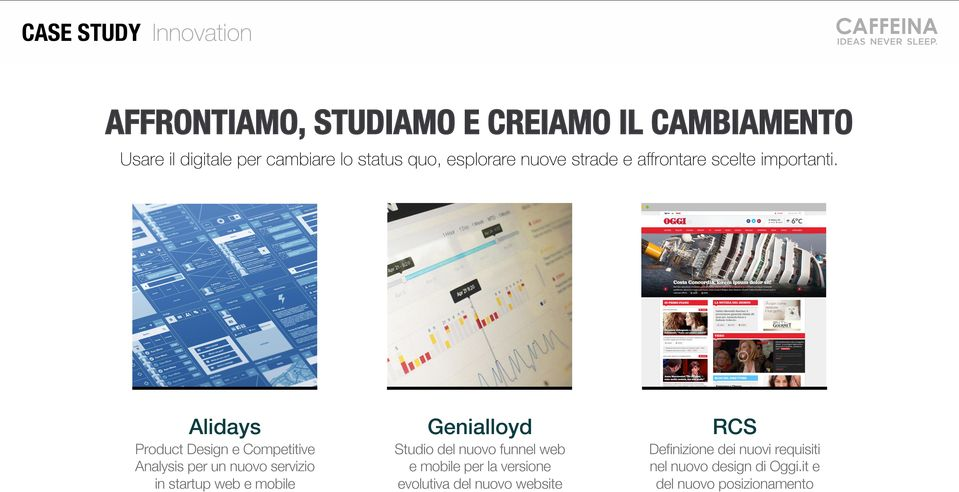 Product Design e Competitive Analysis per un nuovo servizio in startup web e mobile Studio del nuovo funnel web