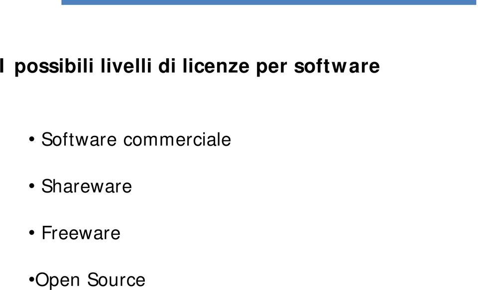 Software commerciale