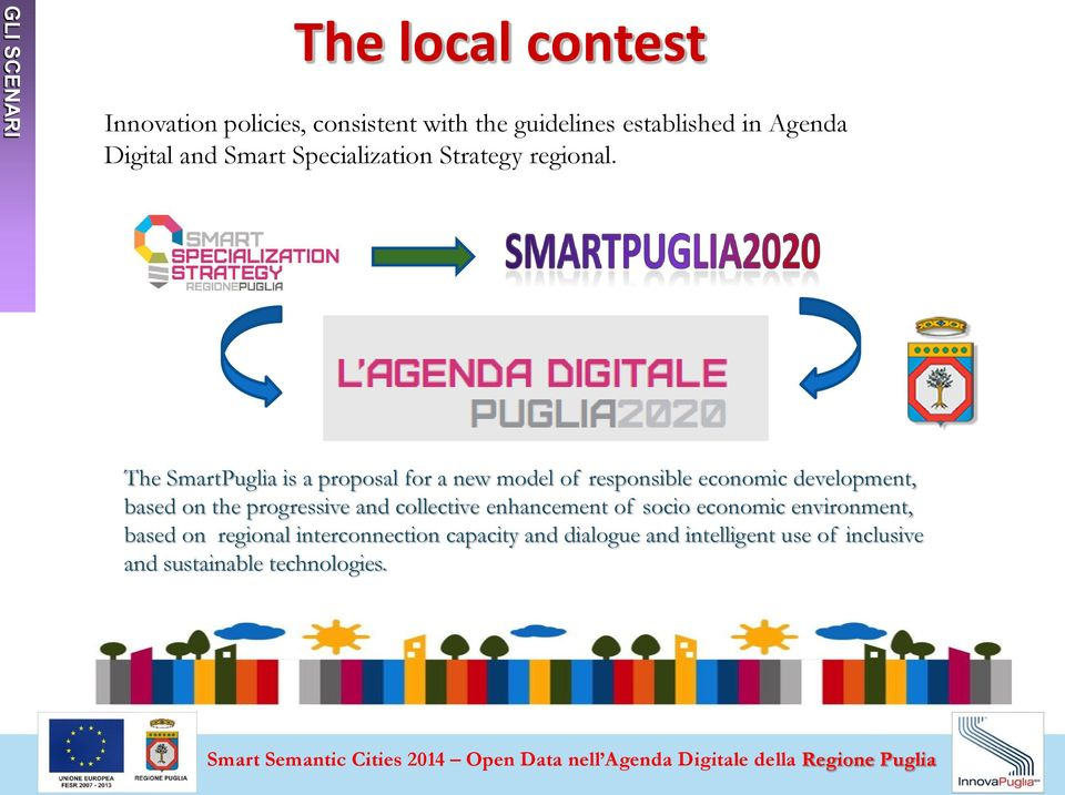 The SmartPuglia is a proposal for a new model of responsible economic development, based on the progressive