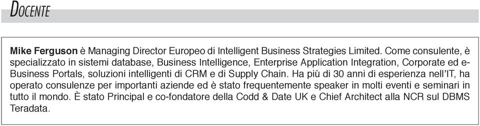 Portals, soluzioni intelligenti di CRM e di Supply Chain.