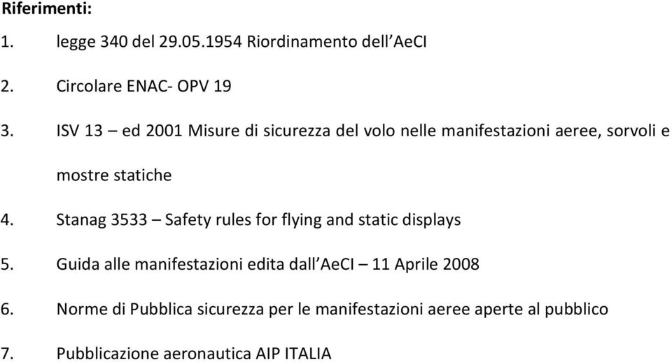 Stanag 3533 Safety rules for flying and static displays 5.