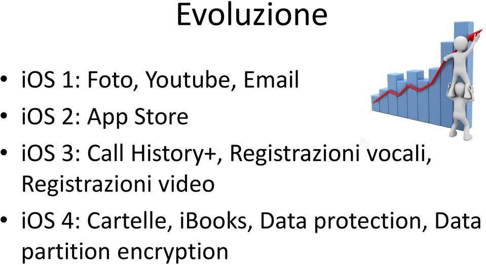 vocali, Registrazioni video ios 4: Cartelle,