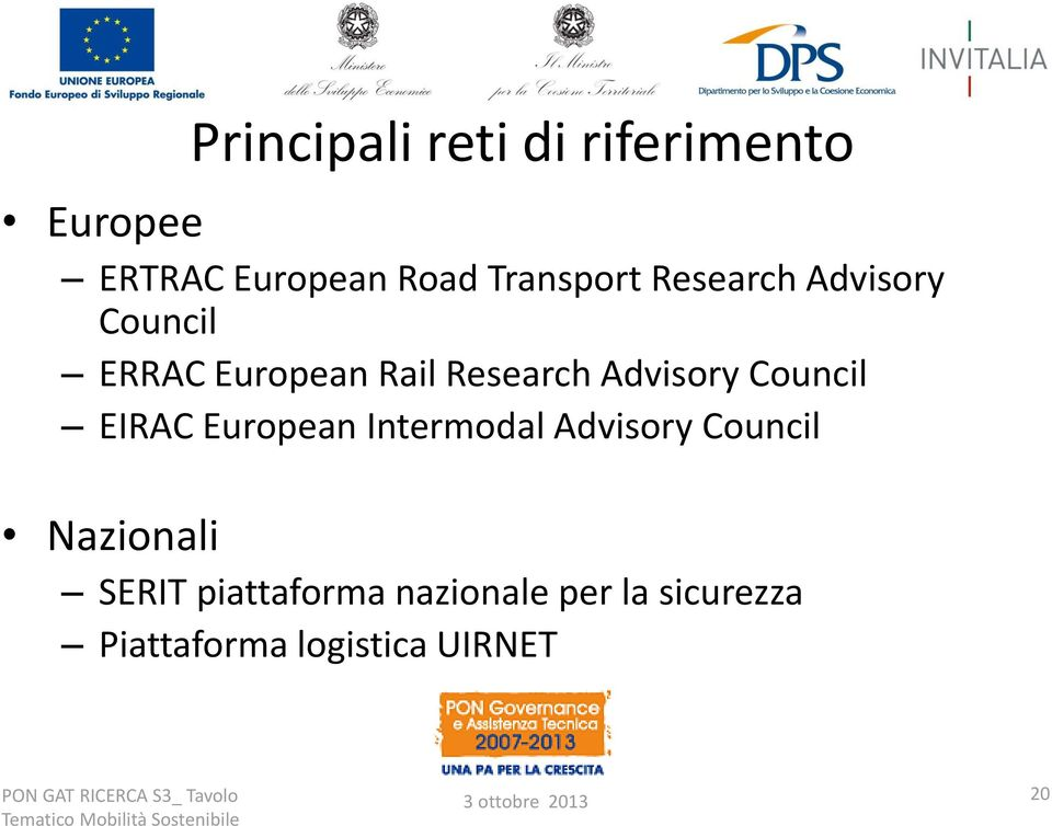 Advisory Council EIRAC European Intermodal Advisory Council