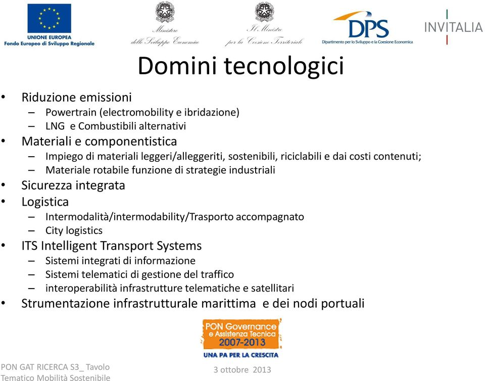 Logistica Intermodalità/intermodability/Trasporto accompagnato City logistics ITS Intelligent Transport Systems Sistemi integrati di informazione Sistemi