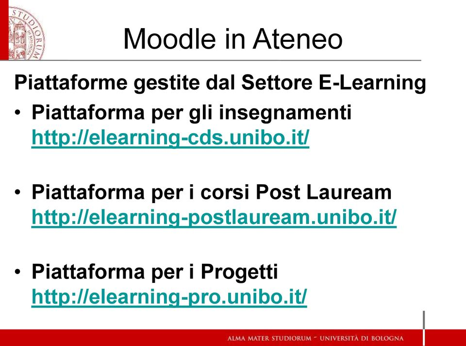 it/ Piattaforma per i corsi Post Lauream