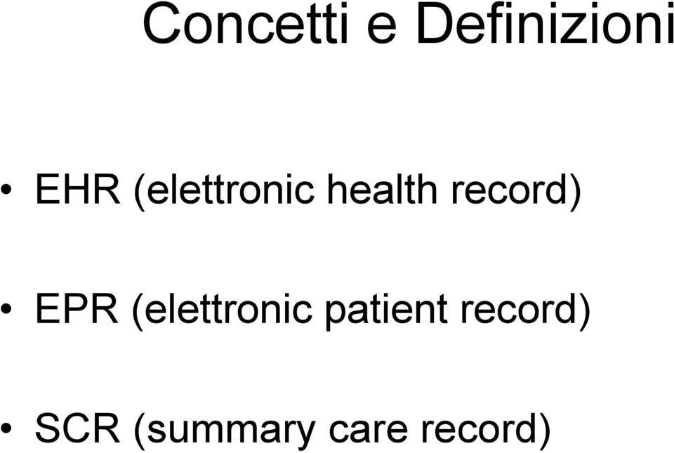 EPR (elettronic patient
