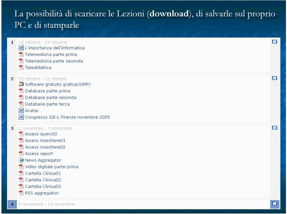 (download), di