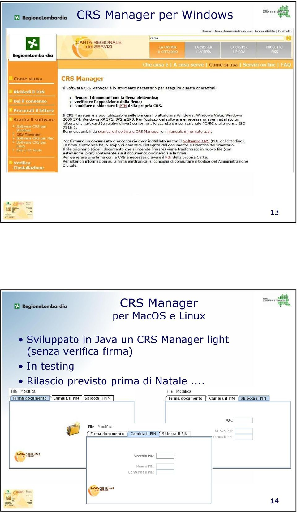 Manager light (senza verifica firma) In