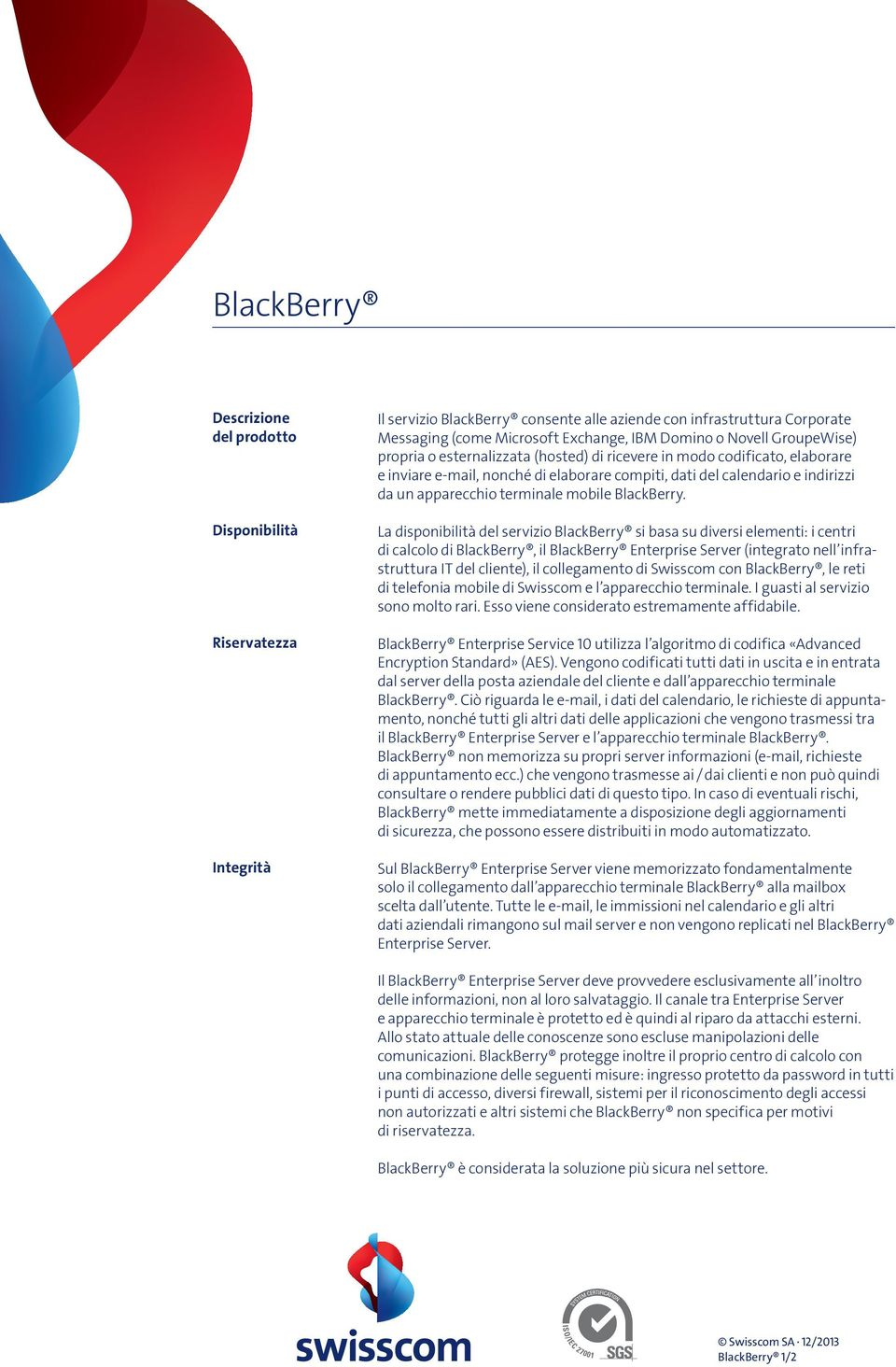 terminale mobile BlackBerry.