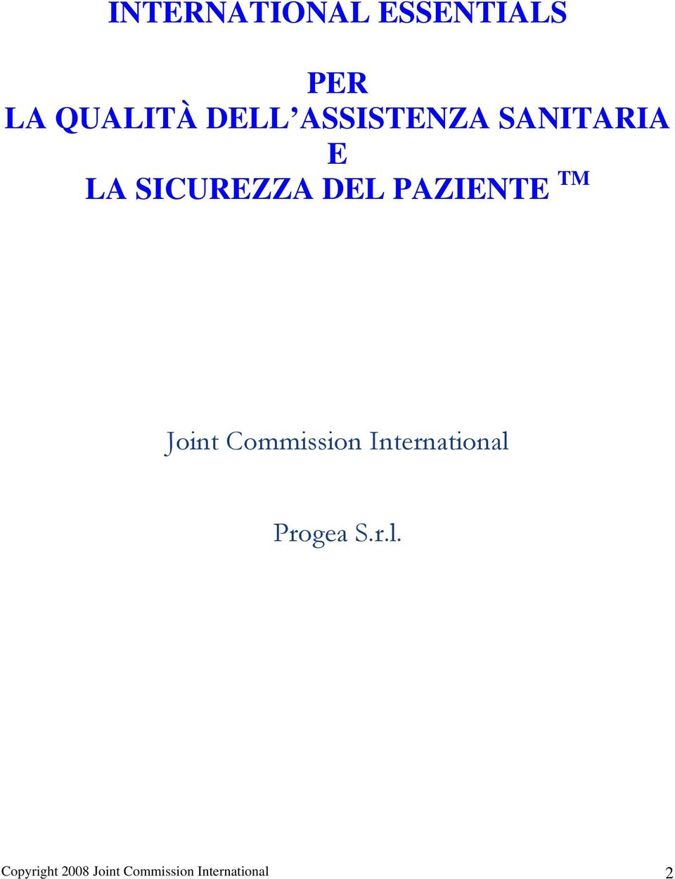 PAZIENTE TM Joint Commission International