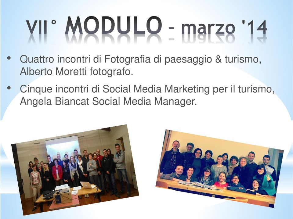Cinque incontri di Social Media Marketing