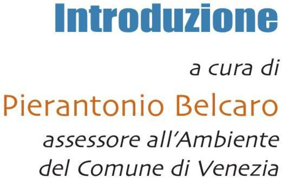 assessore all Ambiente