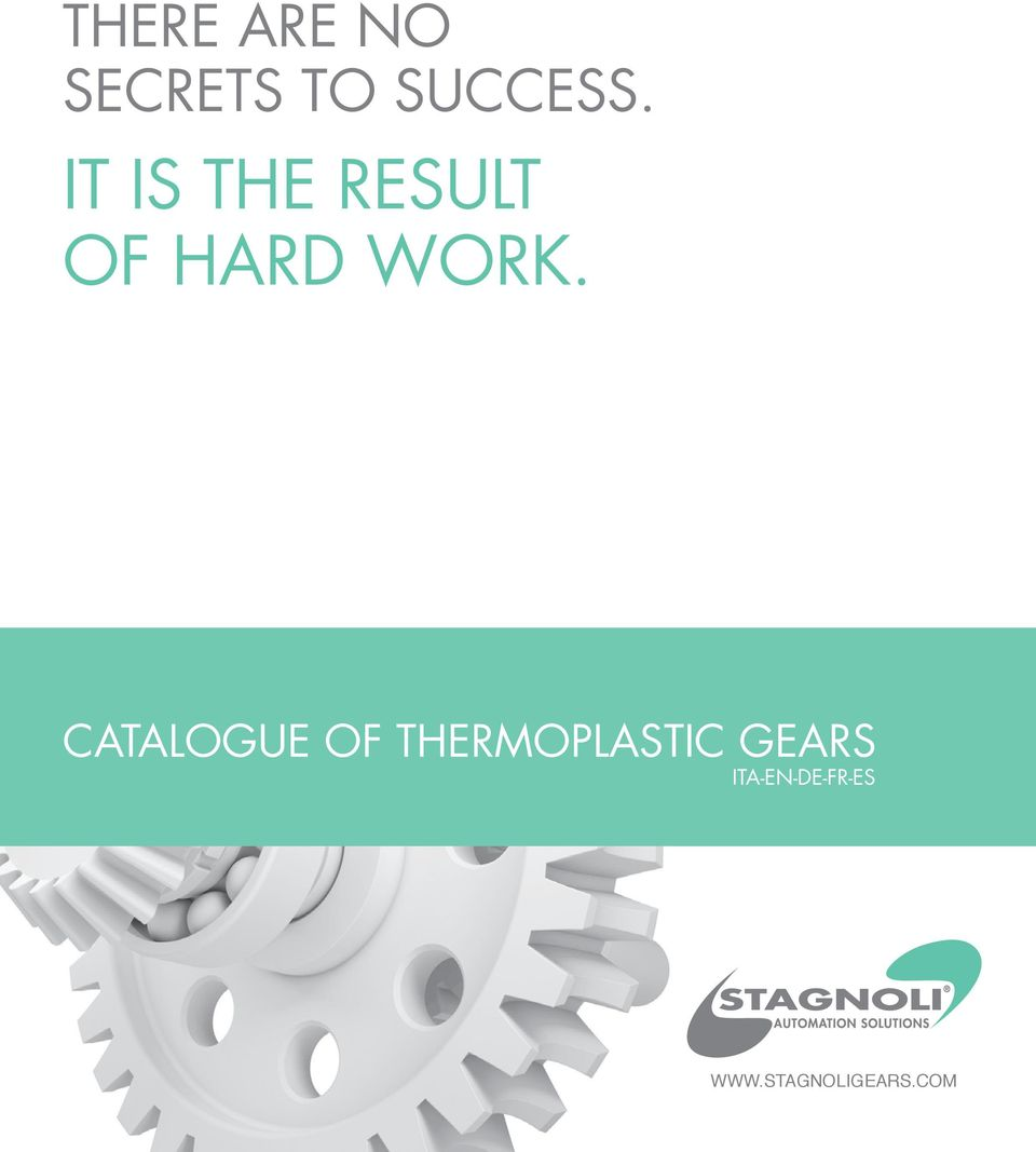 CATALOGUE OF THERMOPLASTIC GEARS