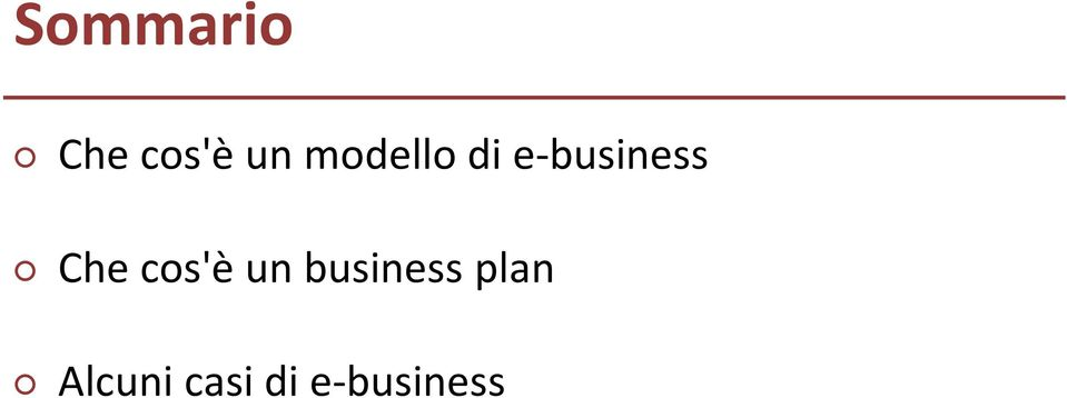 Che cos'è un business