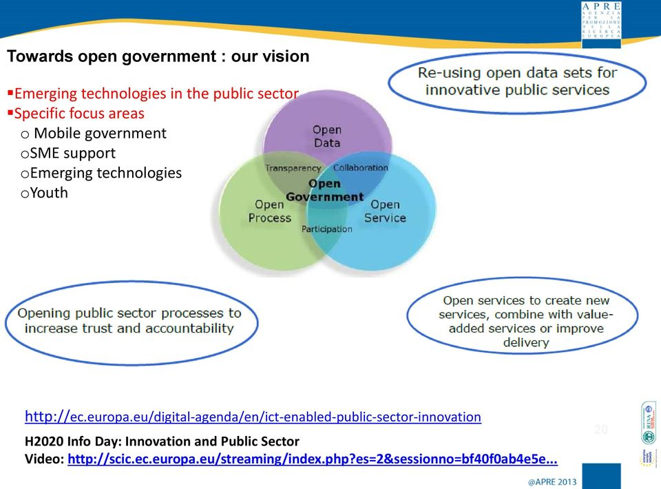 eu/digital-agenda/en/ict-enabled-public-sector-innovation H2020 Info Day: Innovation and