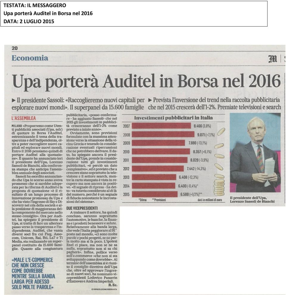 porterà Auditel in