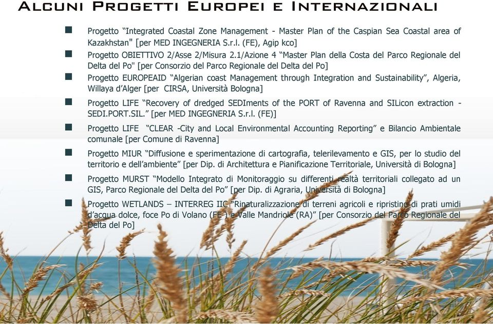 Sustainability, Algeria, Willaya d Alger [per CIRSA, Università Bologna] Progetto LIFE Recovery of dredged SEDIments of the PORT of Ravenna and SILicon extraction - SEDI.PORT.SIL. [per MED INGEGNERIA S.