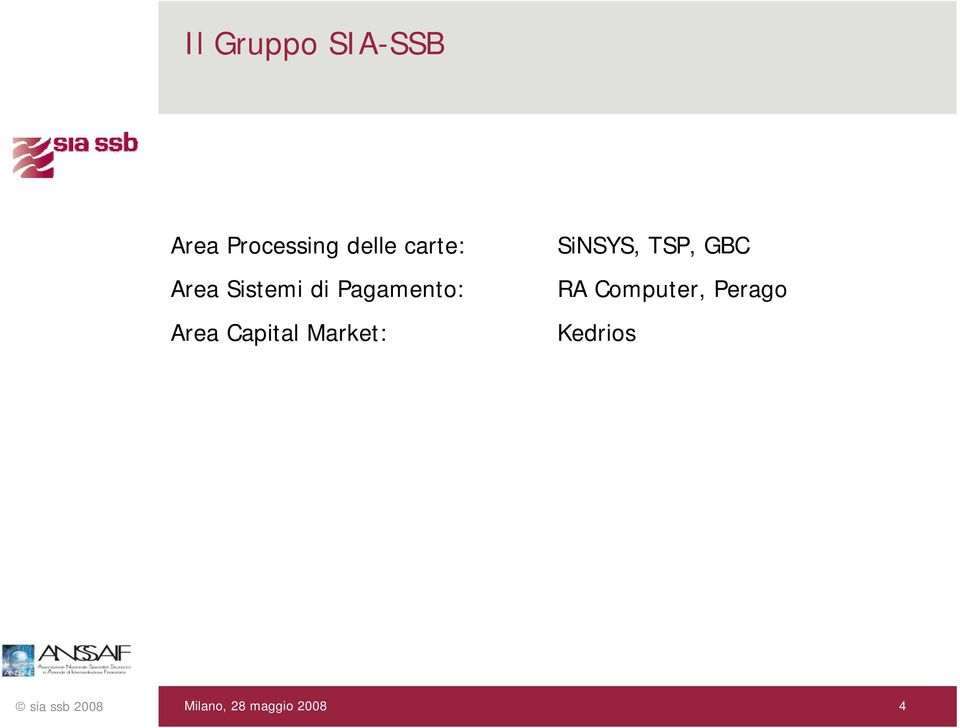 Pagamento: Area Capital Market: