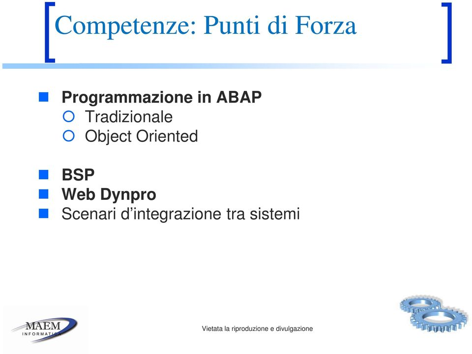 Tradizionale Object Oriented BSP