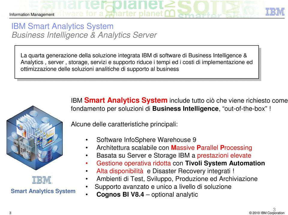 fondamento per soluzioni di Business Intelligence, out-of-the-box!