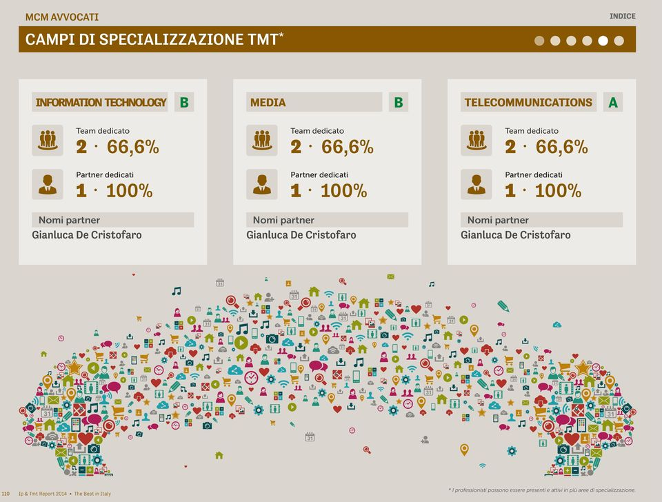 66,6% 2 66,6% 110 Ip & Tmt Report 2014 The est in Italy * I