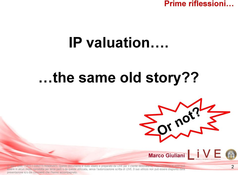 IP valuation.