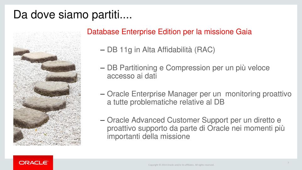 Partitioning e Compression per un più veloce accesso ai dati Oracle Enterprise Manager per un