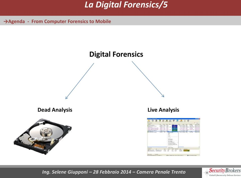 Forensics to Mobile Digital