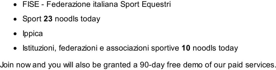 associazioni sportive 10 noodls today Join now and