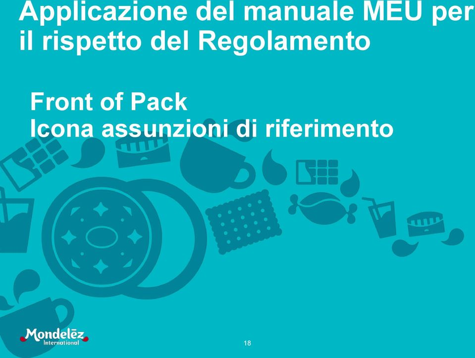 Regolamento Front of Pack