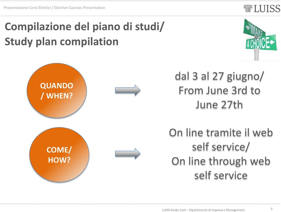 dal 3 al 27 giugno/ From June 3rd to June 27th On
