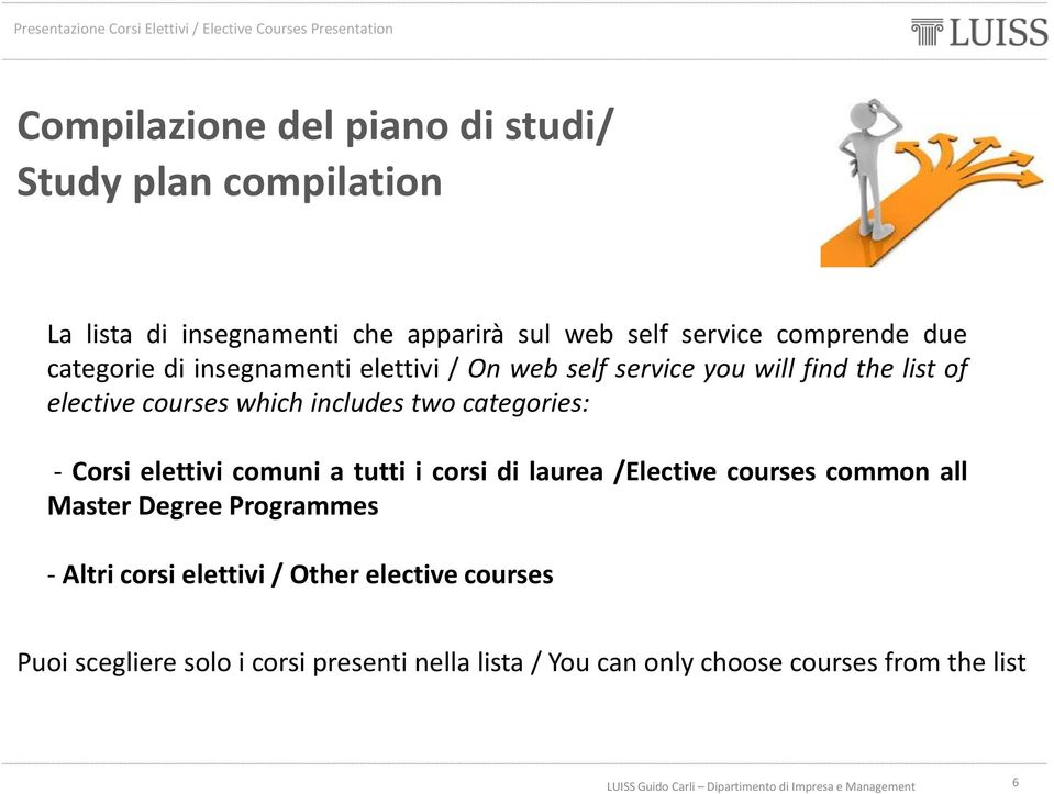 categories: - Corsi elettivi comuni a tutti i corsi di laurea /Elective courses common all Master Degree Programmes - Altri