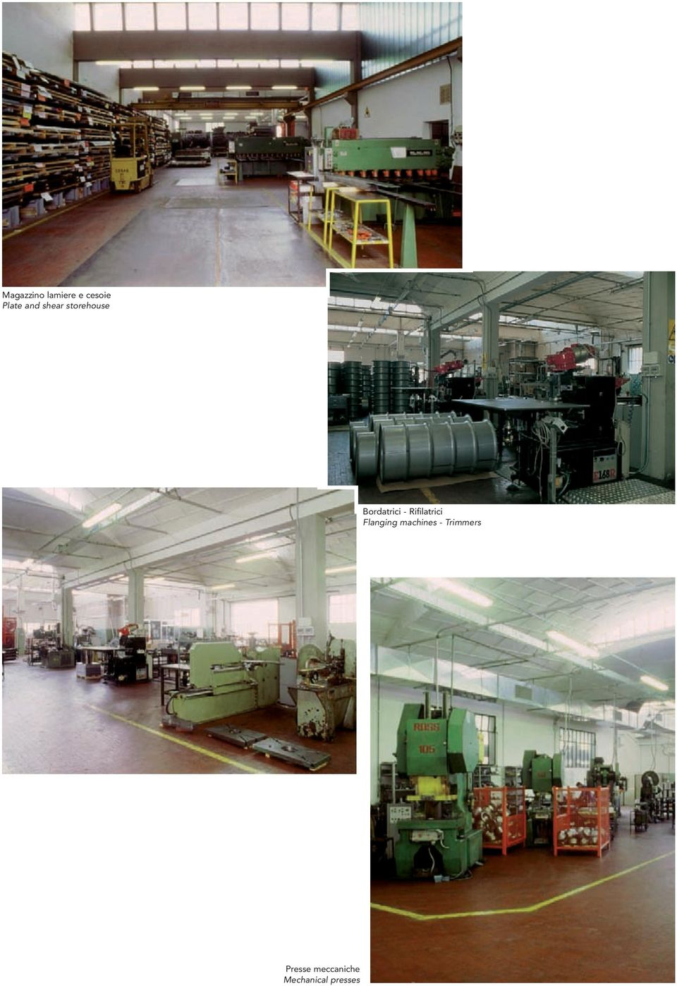 Rifilatrici Flanging machines -