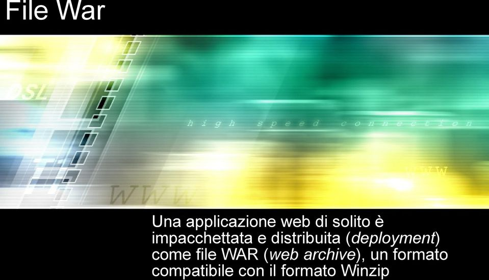 (deployment) come file WAR (web