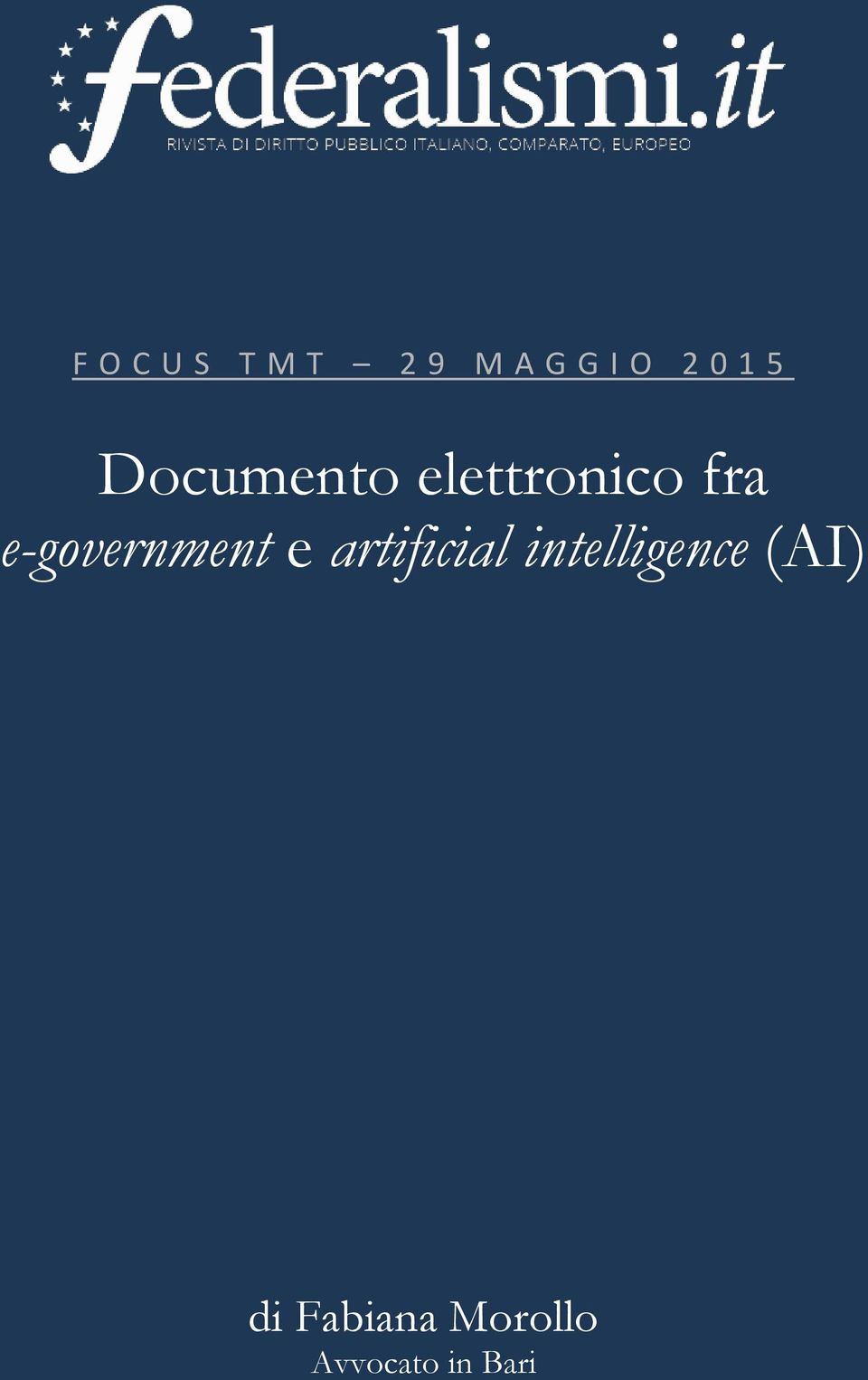 e-government e artificial