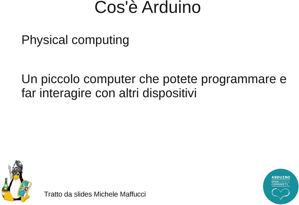 programmare e far interagire con