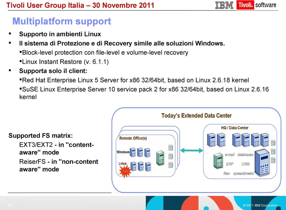 1) Supporta solo il client: Red Hat Enterprise Linux 5 Server for x86
