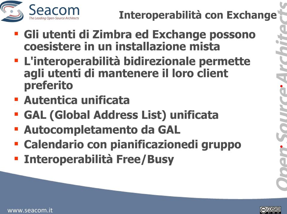 mantenere il loro client preferito Autentica unificata GAL (Global Address List)