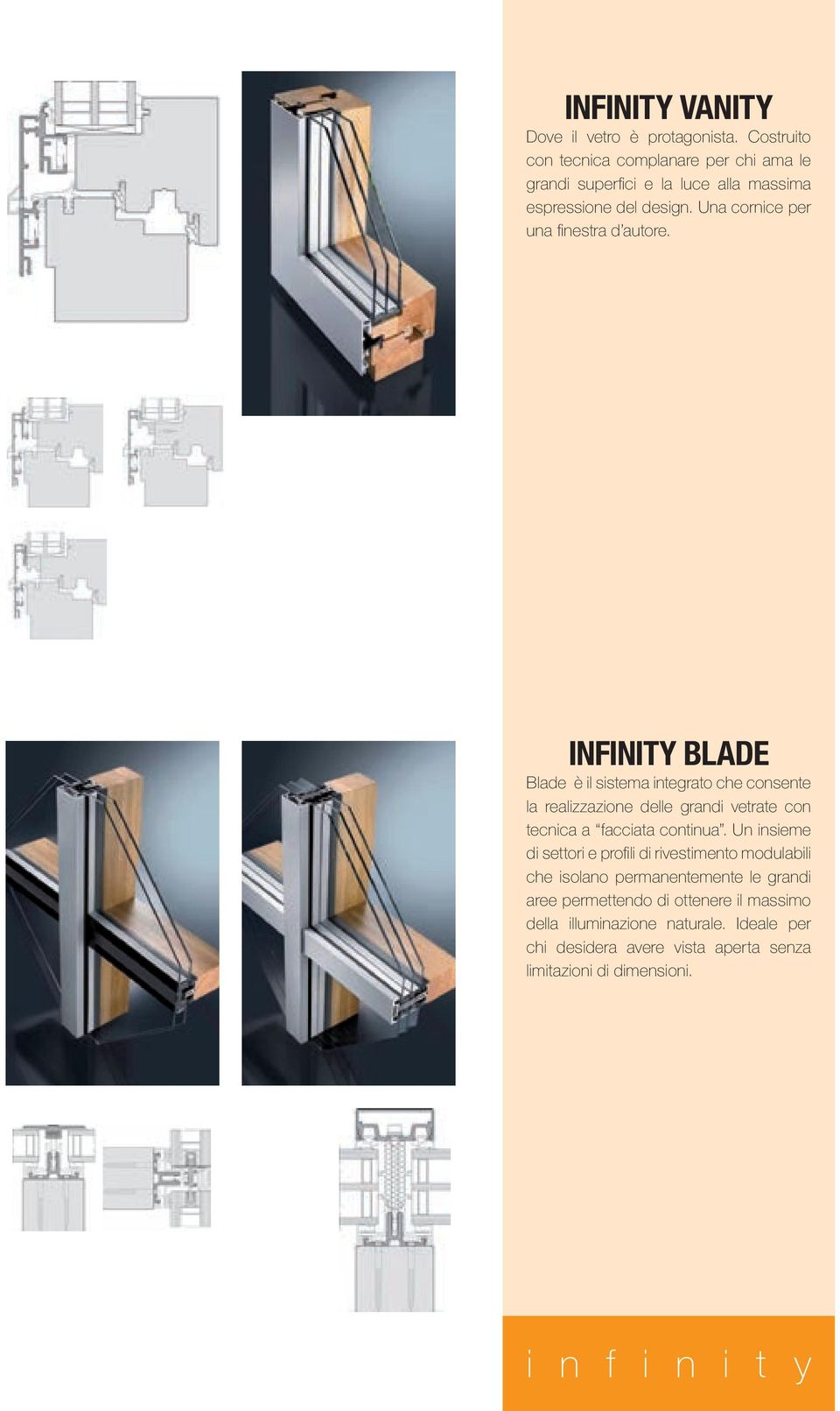 without restriction Wood-Aluminium Systems GUTMANN MIRA contour integral INFINITY VANITY Dove il vetro è protagonista.