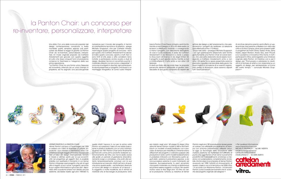 La Panton Chair da re-inventare, personalizzare, interpretare.