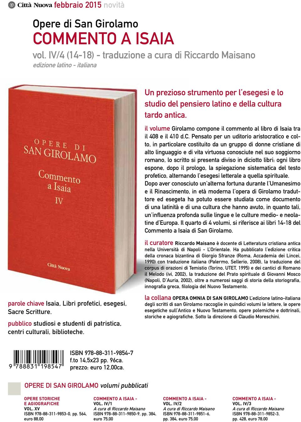 il volume Girolamo co