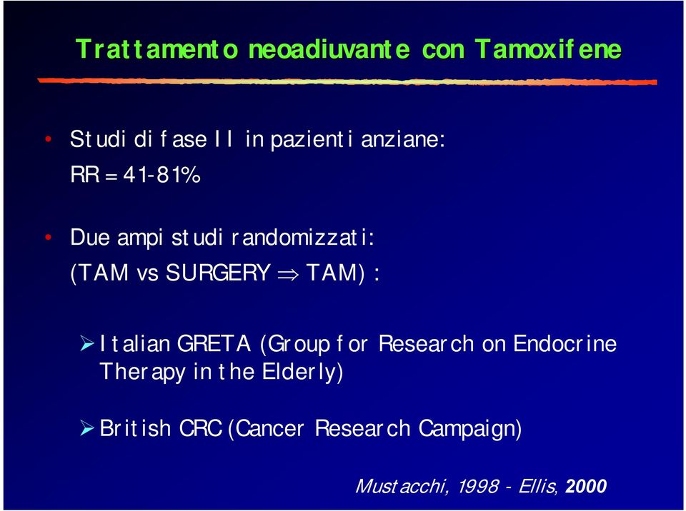 : Italian GRETA (Group for Research on Endocrine Therapy in the
