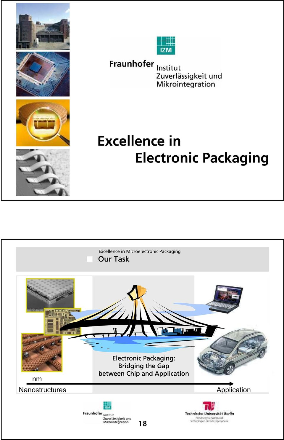 Packaging Our Task nm Nanostructures Electronic