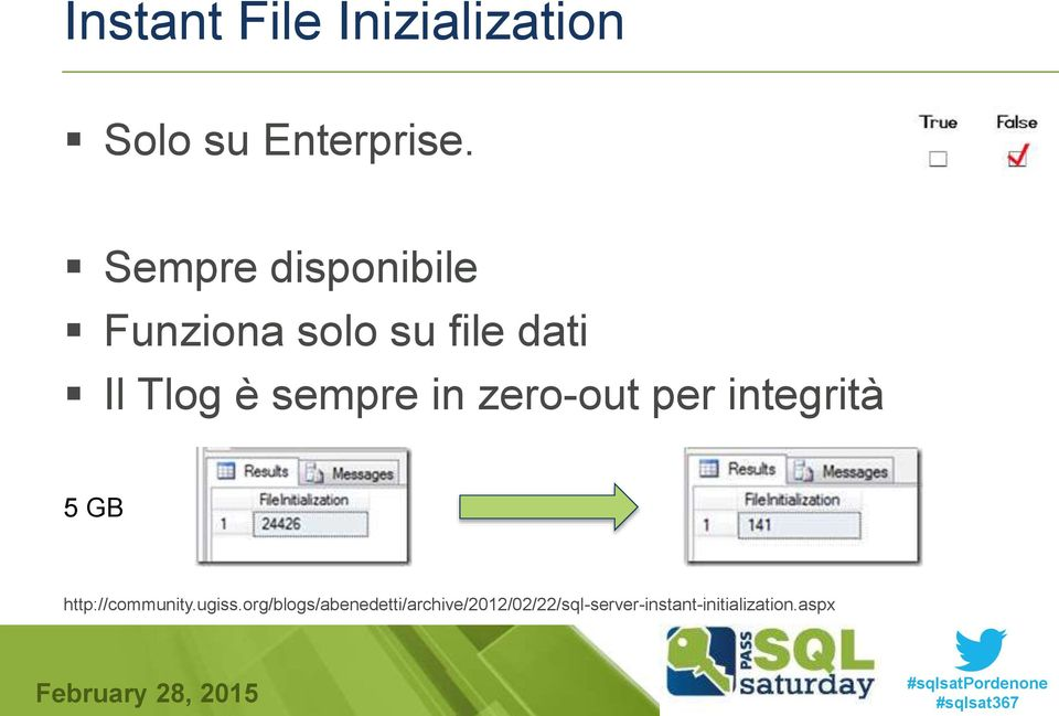 sempre in zero-out per integrità 5 GB http://community.ugiss.