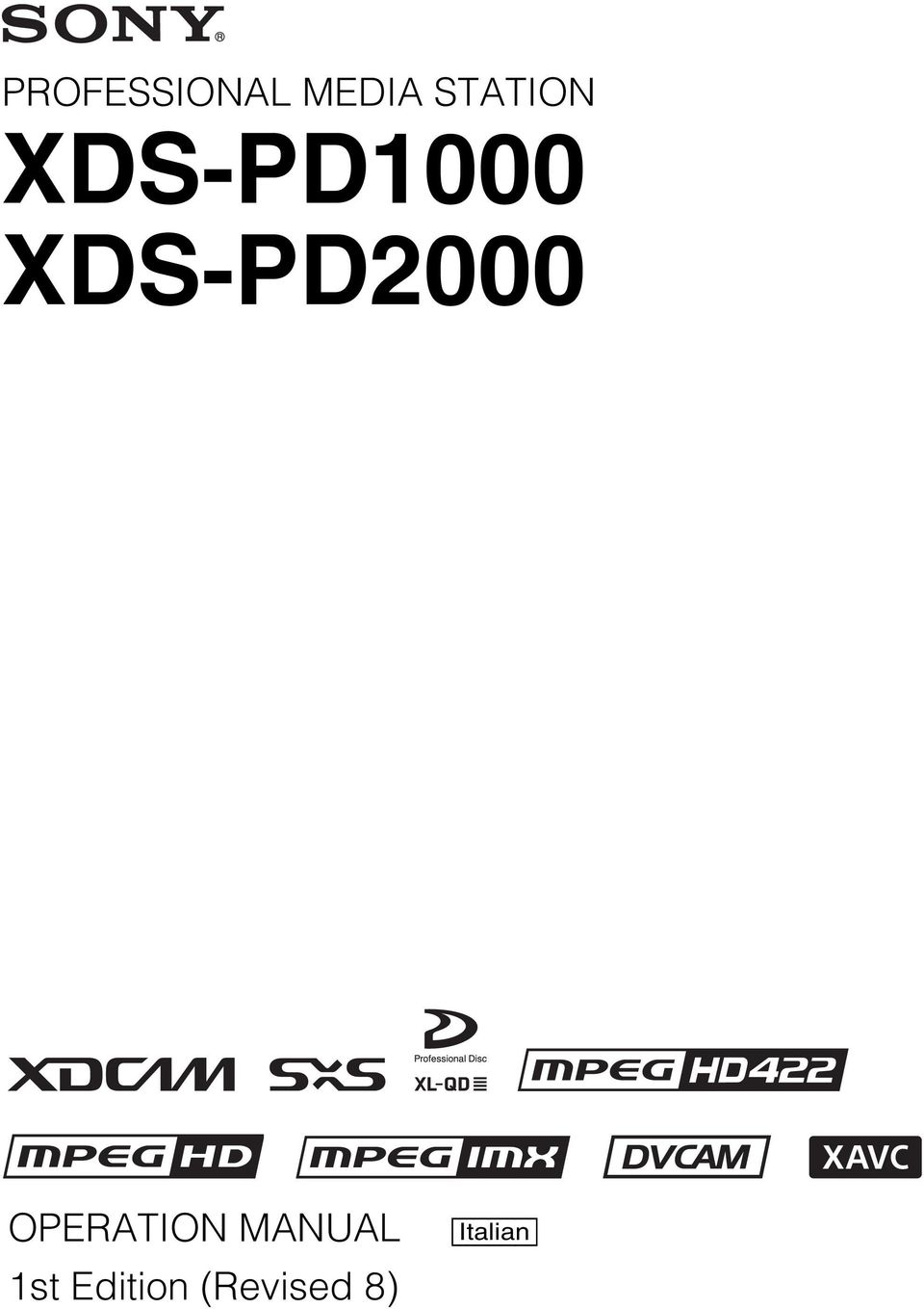 XDS-PD2000 OPERATION